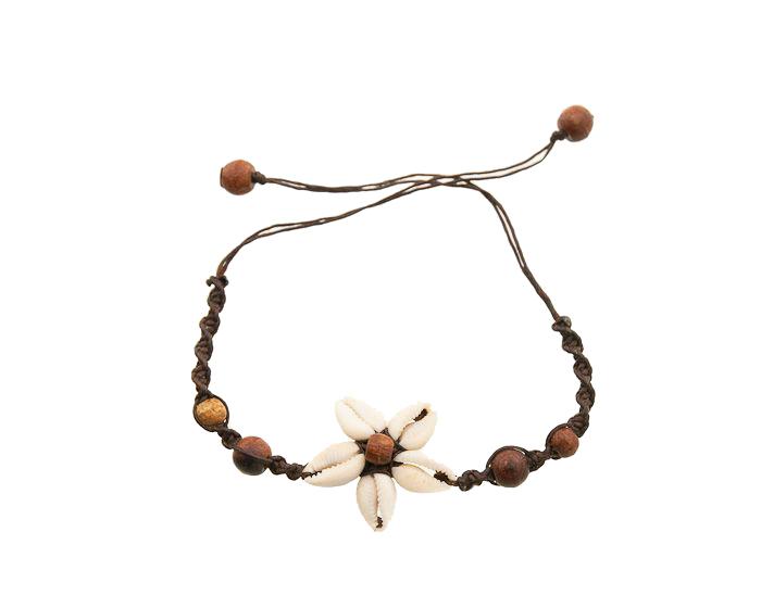 nouvelle collection 5d892 6618d Bracelet coquillage cauris-fleur des Iles- 3524