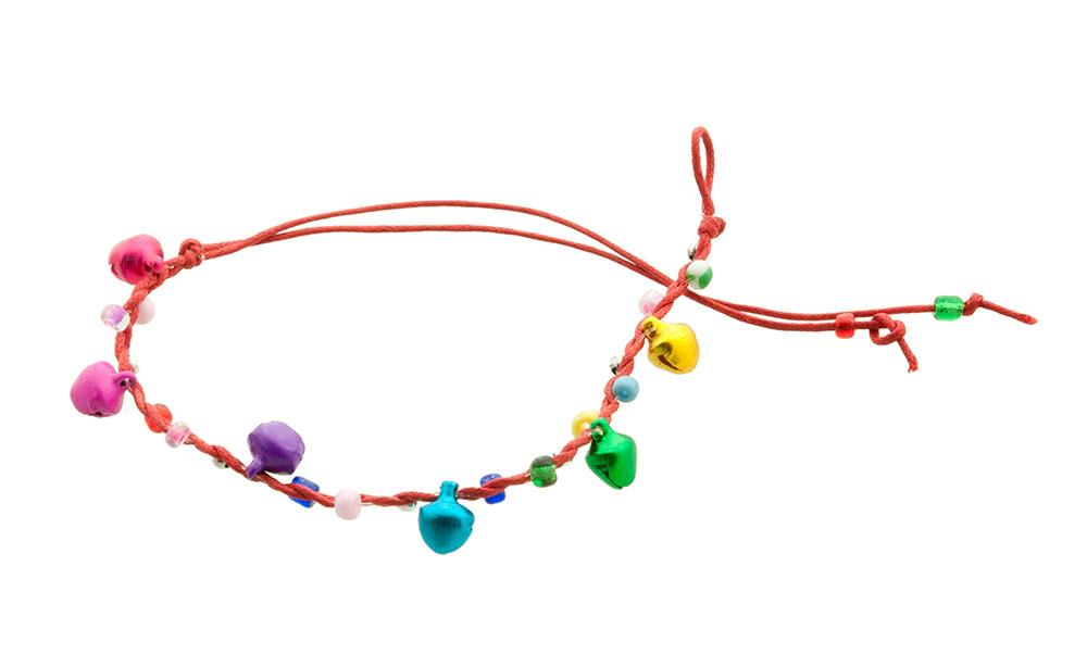 Bracelet bresilien amitie fil tresse avec clochettes porte bonheur rouge 8126 - Longueur fil bracelet bresilien ...