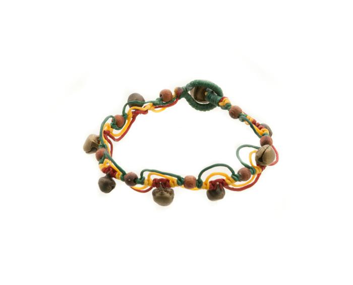 Bracelet bresilien amitie fil tresse perles porte bonheur rasta grelot 8165 - Longueur fil bracelet bresilien ...