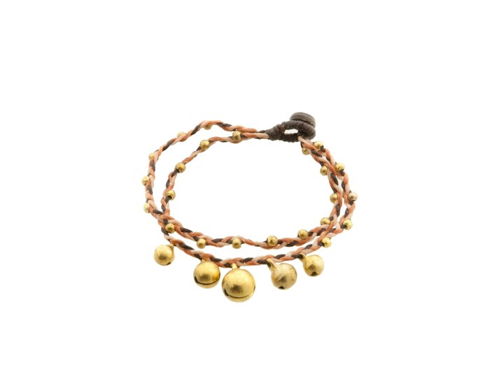 Bracelet bresilien amitie fil tresse perles porte bonheur clochette grelot 8164 - Longueur fil bracelet bresilien ...