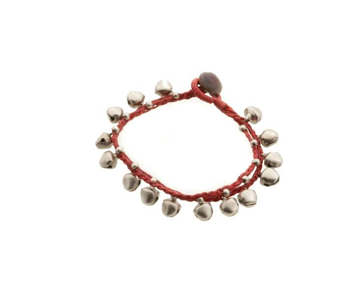 Bracelet bresilien amitie fil tresse perles porte bonheur clochette grelot 8161 - Longueur fil bracelet bresilien ...