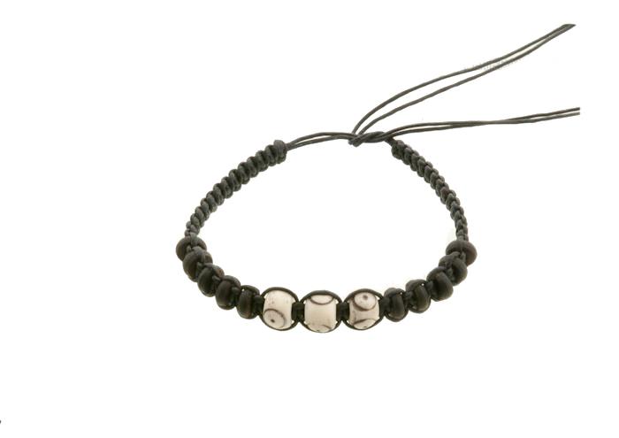 Bracelet amitie fil coton tresse avec perles , Bonheur Souhait Bahia  Bresilien 8230