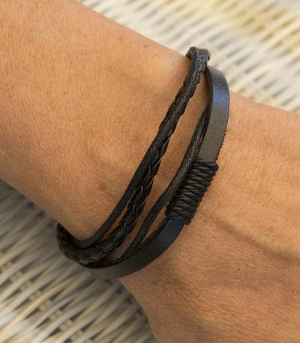 Bracelet coton tresse homme