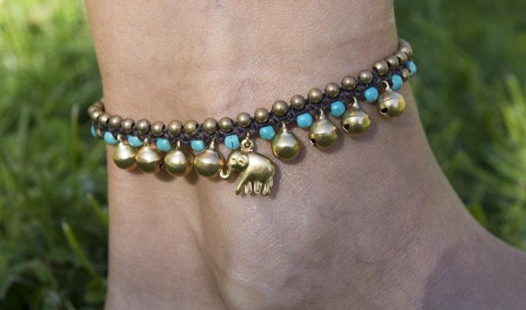 bracelet bresilien cheville