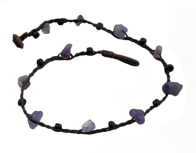 Bracelet Tibétain Amitié  avec Perles noires BB20776-FS5C